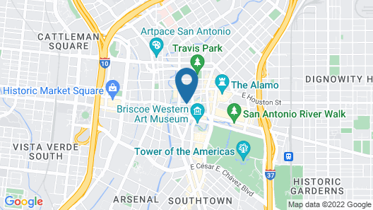 Mokara Hotel & Spa San Antonio Map