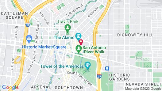 Crockett Hotel Map