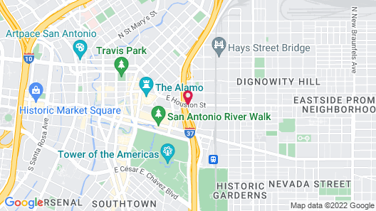 Red Roof Inn PLUS+ San Antonio Downtown - Riverwalk Map
