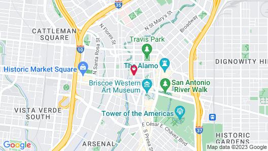 Courtyard Marriott Riverwalk Map