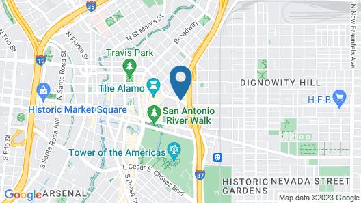 Days Inn by Wyndham San Antonio Alamo/Riverwalk Map