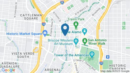 Hampton Inn & Suites San Antonio Riverwalk Map