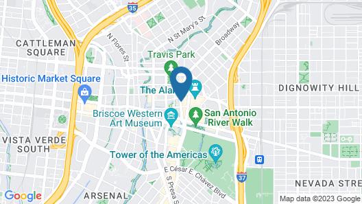 Hyatt Regency San Antonio Riverwalk Map