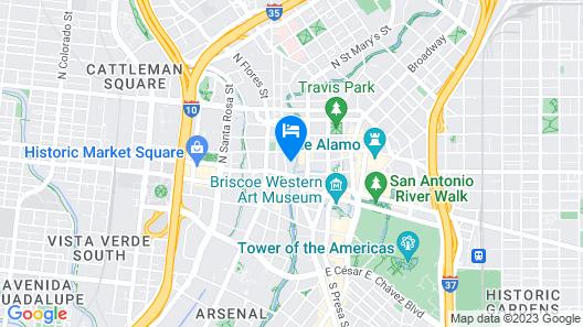 Home2 Suites by Hilton San Antonio Riverwalk, TX Map