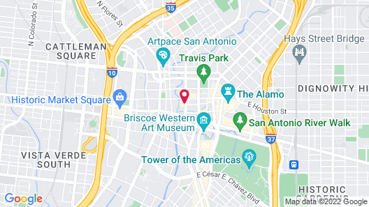 Holiday Inn San Antonio - Riverwalk, an IHG Hotel Map