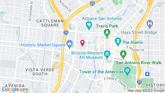 Holiday Inn Express San Antonio N-Riverwalk Area, an IHG Hotel Map