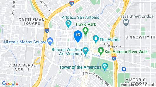 Holiday Inn San Antonio - Riverwalk Map