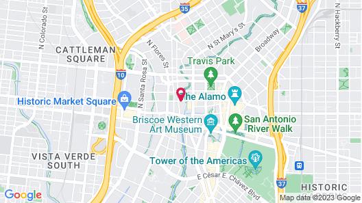 Embassy Suites San Antonio Riverwalk-Downtown Map
