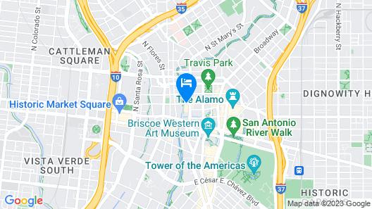 Hotel Valencia Riverwalk Map
