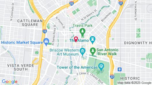 Sheraton Gunter Hotel San Antonio Map