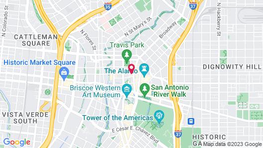 Hilton Garden Inn San Antonio Downtown Map