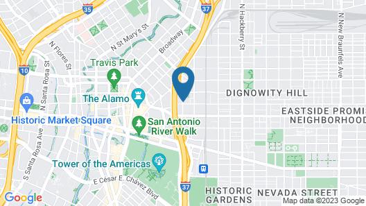 Comfort Suites Alamo - Riverwalk Map