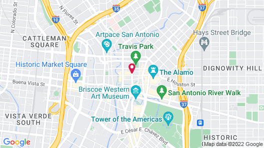 Home2 Suites by Hilton San Antonio Downtown - Riverwalk, TX Map