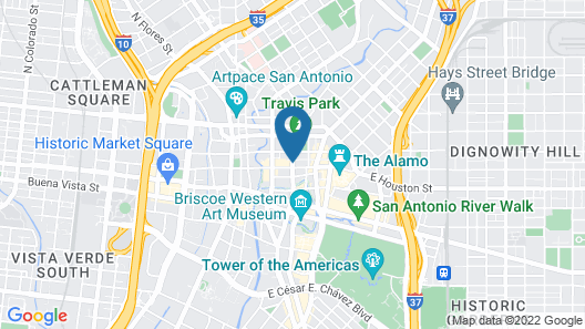 Home2 Suites by Hilton San Antonio Downtown - Riverwalk, TX Map