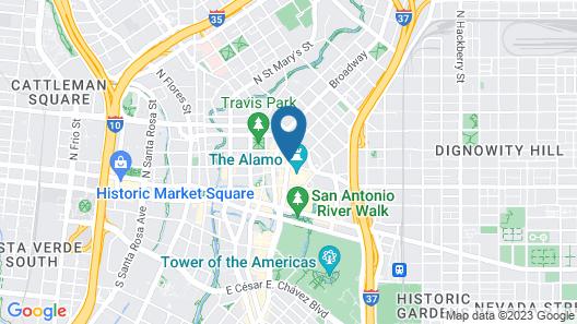 Hotel Gibbs Downtown Riverwalk Map