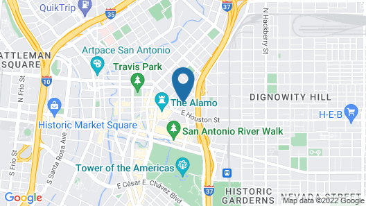 Residence Inn by Marriott San Antonio Downtown/Alamo Plaza Map