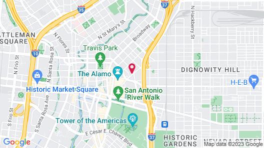 Sonesta ES Suites San Antonio Downtown Map