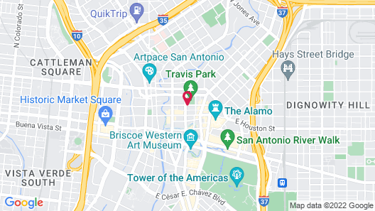 The St. Anthony, A Luxury Collection Hotel, San Antonio Map