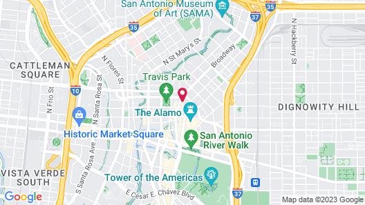 Best Western Premier Historic Travelers Hotel Alamo Riverwalk Map
