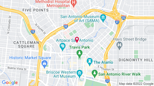 Hotel Indigo San Antonio Riverwalk Map