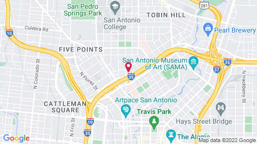 Americas Best Value Inn Riverwalk Downtown Market Square Map