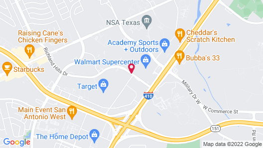 Homewood Suites by Hilton Lackland AFB/ SeaWorld, TX Map