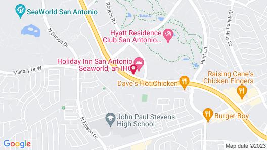 Holiday Inn San Antonio Nw - Seaworld Area, an IHG Hotel Map