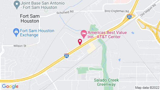 Studio 6 San Antonio, TX - Fort Sam Houston Area Map