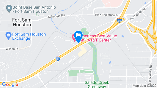 Americas Best Value Inn AT&T Center Map