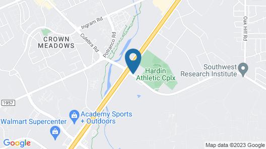 Ramada by Wyndham San Antonio Near SeaWorld/Lackland AFB Map