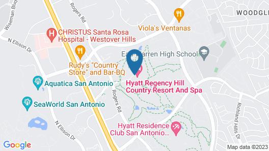 Hyatt Regency Hill Country Resort & Spa Map
