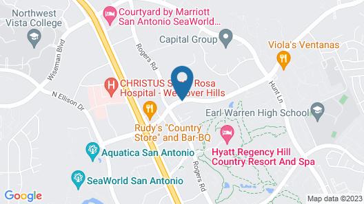 Hilton San Antonio Hill Country Map