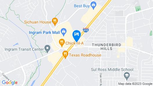 Star Inn Hotel Seaworld San Antonio Map