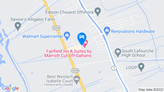 Holiday Inn Express Hotel & Suites Galliano, an IHG Hotel Map