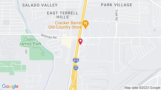 Motel 6 San Antonio, TX - Fort Sam Houston Map
