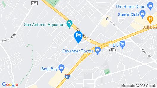 Express Inn & Suites San Antonio SeaWorld Medical Center Map
