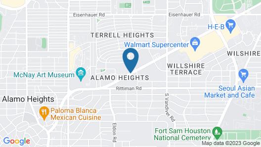 Stay Express Inn Near Ft. Sam Houston Map