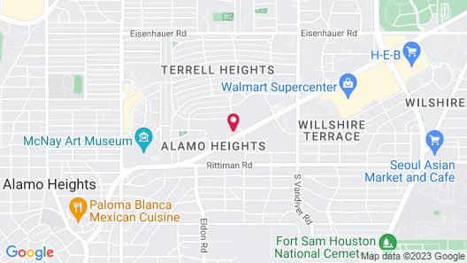 Regency Inn- Fort Sam Houston Map