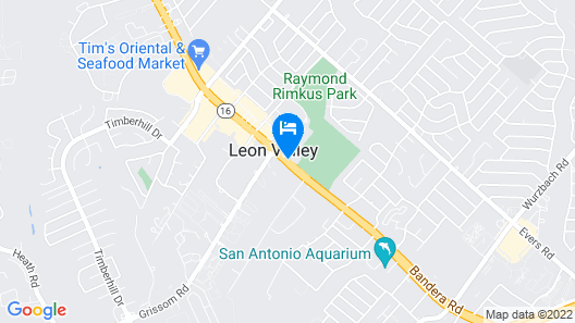 InTown Suites Leon Valley North Map