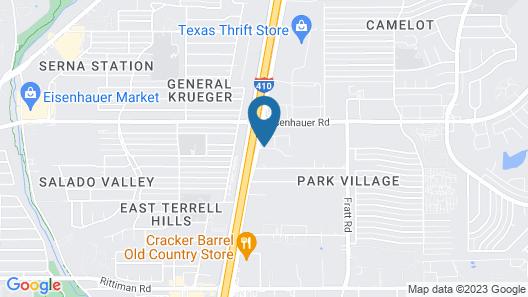 Super 8 by Wyndham San Antonio Near Fort Sam Houston Map