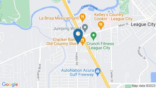 Super 8 by Wyndham League City-kemah Area Map