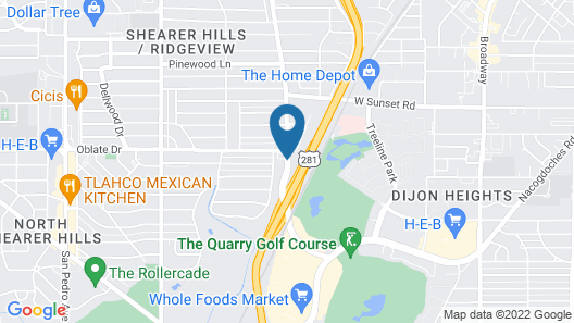 Hyatt Place San Antonio Airport - Quarry Market Map