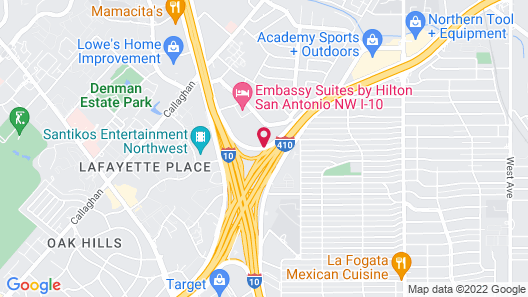 San Antonio Marriott Northwest Map