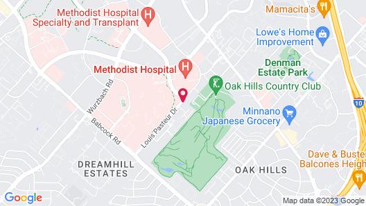 Motel 6 San Antonio, TX - Medical Center South Map