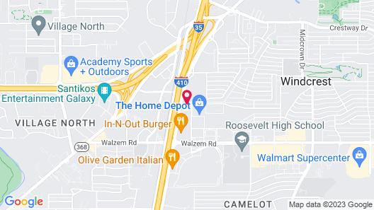 Drury Inn & Suites San Antonio Northeast Map