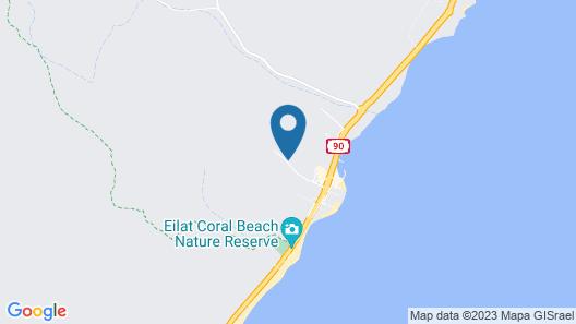 Club In Eilat - Coral Beach Villa Resort Map