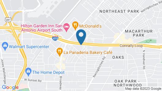OYO Hotel San Antonio Airport South Map