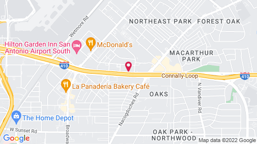 Crowne Plaza San Antonio Airport, an IHG Hotel Map