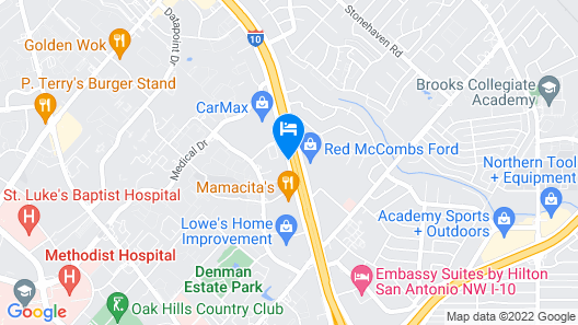 Country Inn & Suites by Radisson, San Antonio Medical Center, TX Map