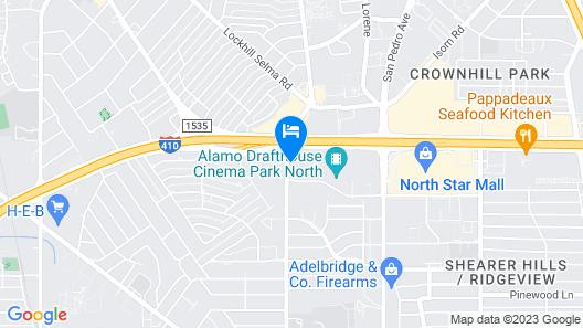 Aloft San Antonio Airport Map